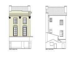 Высота террасы дома Виктории DWG рисунок