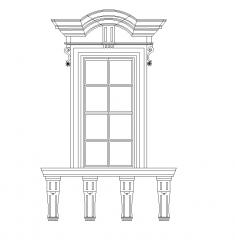 Stone window elevation DWG block
