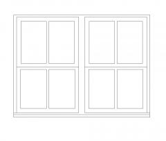 uPVC sash window CAD dwg block