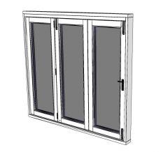 Folding sliding door sketchup block