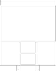 1696mm Height Right Angle Corner Shelves Front Elevation dwg Drawing