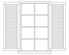 Window - With Shutter - Elevation