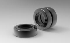 Autodesk Inventor ipt file 3D CAD Model of polyurethane tread bands Ø (mm)200 W(mm)105Load cap. at 4 km/h 1600Load cap. at 10 km/h 600