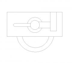 Urinalplanansicht DWG-Block
