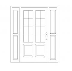 Porta frontale con luci di posizione DWG