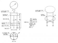 Barhocker Design und Bauzeichnung dwg
