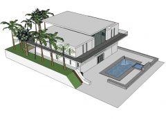 Modern Eco home design Sketchup model