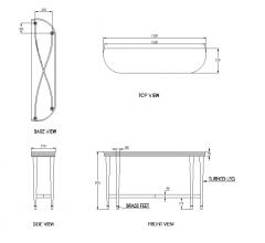 Modelo do DWG do console principal do quarto