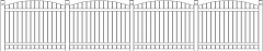 1829mm Height Curved Horizontal Fence Design Rear Elevation dwg Drawing