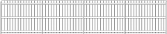 1829mm Height Wooden Horizontal Fence Rear Elevation dwg Drawing