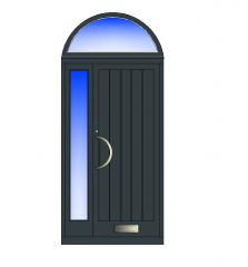 与顶灯和侧板dwg的复合门