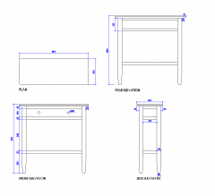 Console table dwg