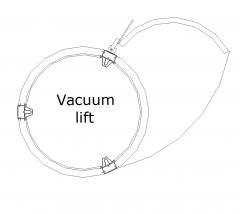 Vacuum lift CAD drawing