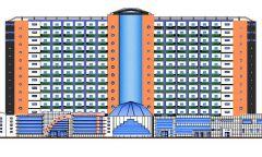 Architectural - Apartment Block Elevation