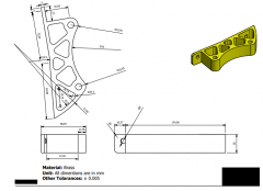 Inventor 2D CAD drawing for practice 18