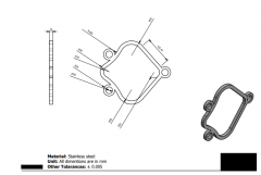 Autodesk Inventor 2D CAD drawing for Practice 18