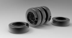 Autodesk Inventor ipt file 3D CAD Model of polyurethane tread bands Ø (mm)200 W(mm)75Load cap. at 4 km/h 1100Load cap. at 10 km/h 425