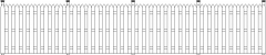 1910mm Height Wooden Horizontal Fence Front Elevation dwg Drawing