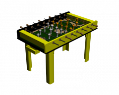 Table football 3ds max and dwg