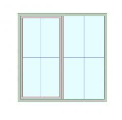 Casement Window 2L Revit Family