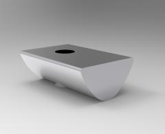 Solid-works 3D CAD Model of Fasteners FOR sliding blocks, s=M3L=12L1=3Torque=1.5F(N)=500