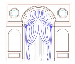 Arched interior gypsum dwg