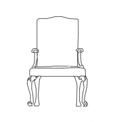 Chair elevation dwg
