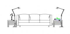furniture living room elevation dwg