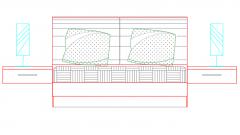 furniture bedroom elevation bed dwg