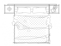 Bed Double plan dwg