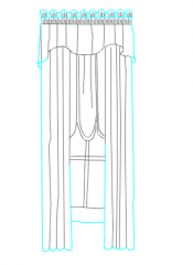 curtains elevation dwg