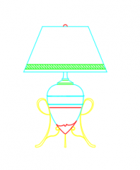 Lamp Table dwg