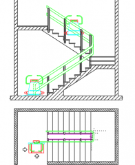 Stairs with electric chair dwg
