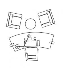 家具オフィスDWG