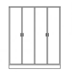 Cabinet closet Storage elevation dwg