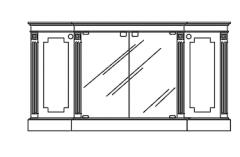 Cabinet Storage elevation dwg