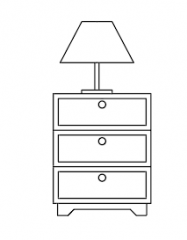 Storage 3 Drawers_table lamp elevation dwg