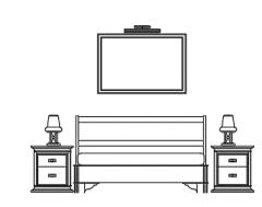 furniture bedroom bed elevation dwg