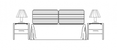 Bed Double elevation dwg