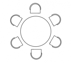 Dining table plan dwg