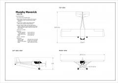2D Murphy Maverick Aircraft (Scale 1:40)
