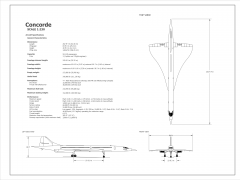 2D Concorde Aircraft (Scale 1:230)