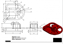 Inventor 2D CAD drawing for practice 1