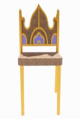 Royal wooden make-up chair revit family