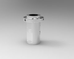 Solid-works 3D CAD Model of ball screw with driven nut & flange, nominal Ø=40pitch=10 ball Ø=6