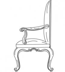 Chair luxury  dwg