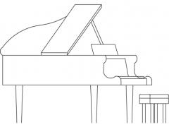 Piano elevation dwg