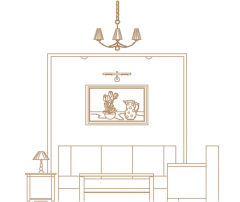 furniture living room section  dwg