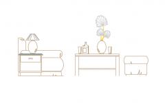 furniture bedroom  dwg
