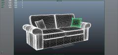Modelo de sofá de tela 3DS Max
